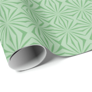 Green Weave Pattern Wrapping Paper