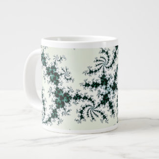 Green Webs - delicate fractal lace Giant Coffee Mug