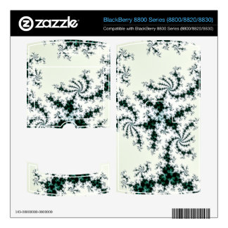 Green Webs - delicate fractal lace BlackBerry 8800 Decal