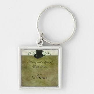 Green Wedding Custom Groomsmen Gift Key Chain