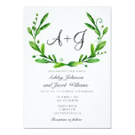 Green Wedding Invitation. Summer Invites. Greenery Card at Zazzle