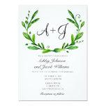 Green Wedding Invitation. Summer Invites. Greenery Card at Zazzle