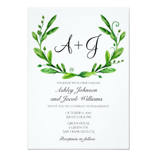 green wedding invitations & announcements | zazzle, Wedding invitations
