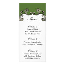 green wedding menu