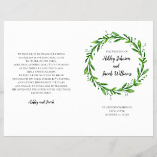 church wedding programs zazzle