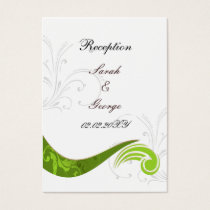 green wedding Reception Cards