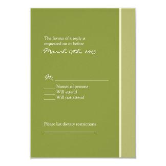 Green Wedding RSVP Card