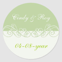 Green wedding stickers