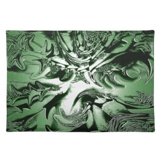 Green Wedgework Placemat