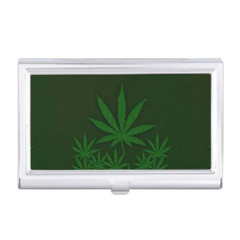 Green Weed Business Card Case