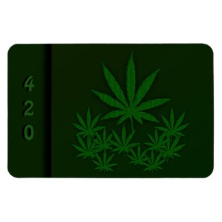 Green Weed Flexible Magnet