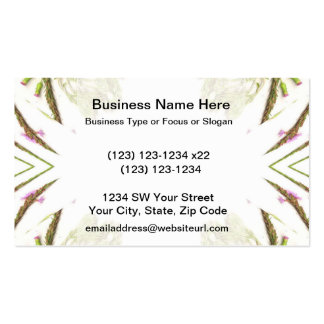 Green weeds on edges 4 up business card