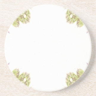 Green weeds on edges 4 up coaster