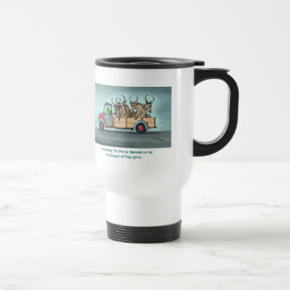 "Green Weenii ""Bad Gnus"" Travel Mug"