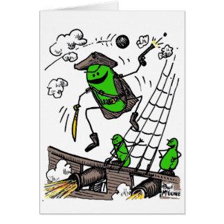 """Green Weenii """"Green Weenii Pirates"""" Note Card"""
