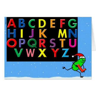 """Green Weenii """"Noel"""" Christmas Card"""