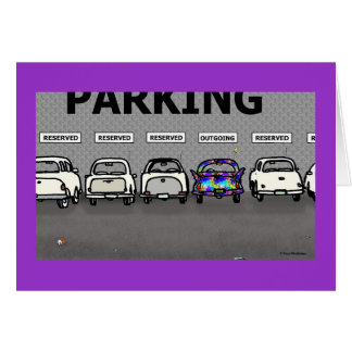 "Green Weenii ""Parking Lot"" Greeting Card"