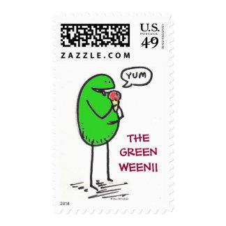 Green Weenii USPS Postage Stamp