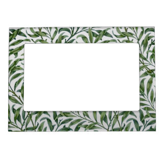 Green Weeping Willow Leaves - Magnet Picture Frame