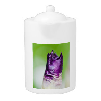 green welcomes purple teapot