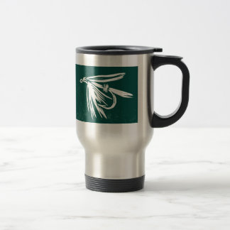 """Green Wet Fly - Cruel Trout"" Fly Fishing Mug"