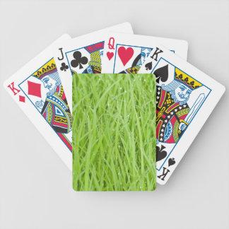 Green wet grass design poker cards