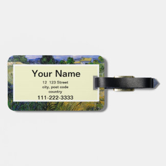 Green Wheat Field with Cypress by Van Gogh. Luggage Tag