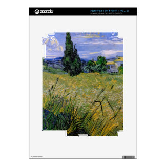 Green Wheat Field with Cypress by Van Gogh. Decal For iPad 3