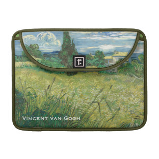 Green Wheat Field with Cypress MacBook Pro Sleeve