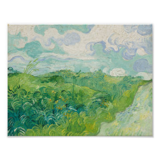 Green Wheat Fields, Auvers  1890 (Vincent van Gogh Poster