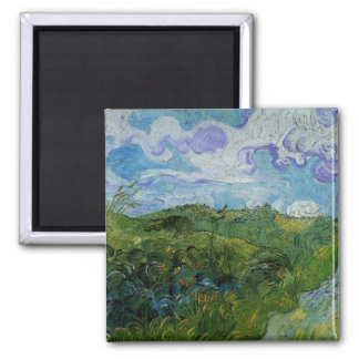 Green Wheat Fields by Vincent van Gogh Magnets