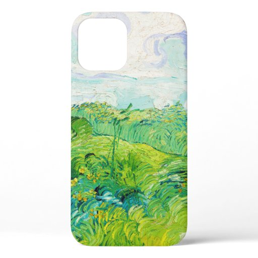 Green Wheat Fields, Van Gogh iPhone 12 Case
