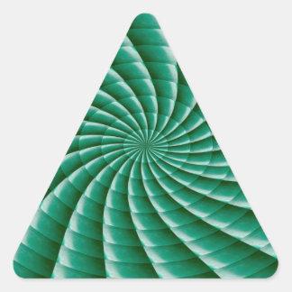 Green Wheel Chakra TEMPLATE add TEXT IMG customize Triangle Sticker