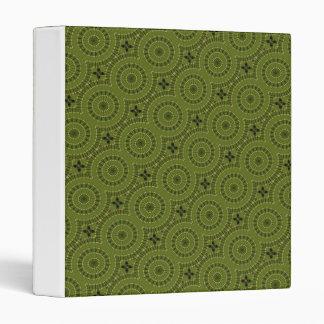 Green Wheel Mandala / Grünes Rad Mandala 3 Ring Binder