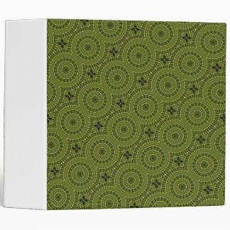 Green Wheel Mandala / Grünes Rad Mandala Binder