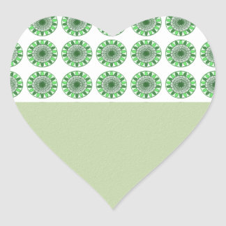 Green : Wheel of Movement to Conservation Heart Sticker