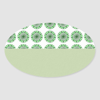 Green : Wheel of Movement to Conservation Oval Sticker