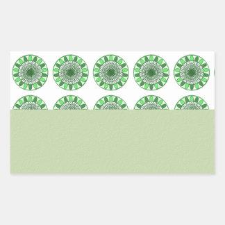 Green : Wheel of Movement to Conservation Rectangular Sticker
