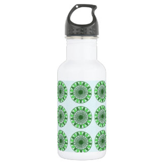 Green : Wheel of Movement to Conservation Stainless Steel Water Bottle