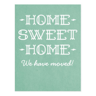 Green Whimsical Home Sweet Home Postcard