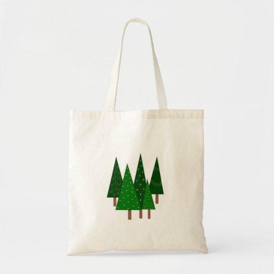 Green Whimsical Trees Tote Bag