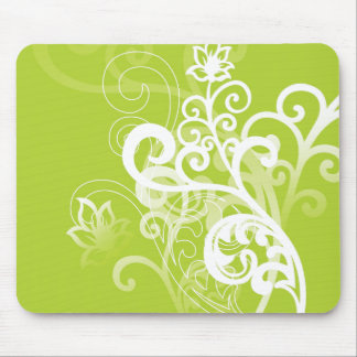 Green Whimsy Mouse Mats
