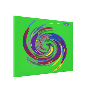 Green Whirlwind Fine Art Canvas Print