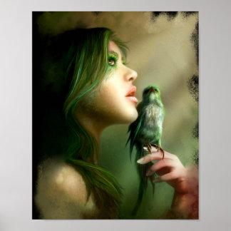 Green Whisper Canvas & Prints Poster