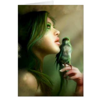 Green Whisper Greeting and Note Cards