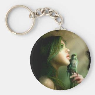 Green Whisper Keychan Keychain