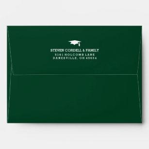 green and white graduation envelopes zazzle