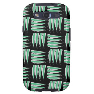 Green & White Abstract Brush Strokes Pattern Samsung Galaxy SIII Cover
