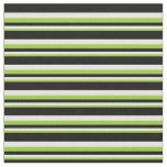 [ Thumbnail: Green, White, and Black Lined/Striped Pattern Fabric ]