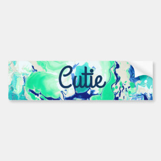 Green white and blue Marble. Bumper Sticker